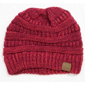 C.C Trendy Chunky Soft Stretch Cable Knit Beanie